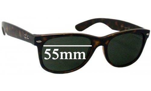 Sunglass Fix Sunglass Replacement Lenses for Ray Ban RB2132 New Wayfarer 55mm wide x 41mm high