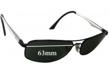 Sunglass Fix Sunglass Replacement Lenses for Ray Ban RB3484 - 63mm Wide