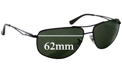 Sunglass Fix Sunglass Replacement Lenses for Ray Ban RB3490 - 62mm Wide