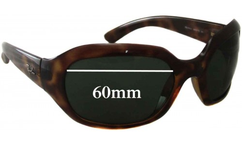Sunglass Fix Sunglass Replacement Lenses for Ray Ban RB4062 - 60mm Wide