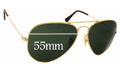 Sunglass Fix Sunglass Replacement Lenses for Ray Ban RB8041 - 55mm Wide