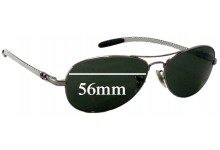 Sunglass Fix Sunglass Replacement Lenses for Ray Ban RB8301 Tech - 56mm Wide *Please measure as there are several models*