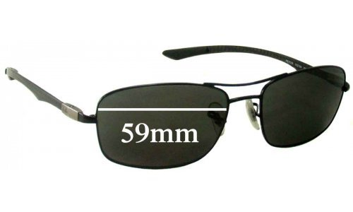 Sunglass Fix Sunglass Replacement Lenses for Ray Ban RB8309 - 59mm wide