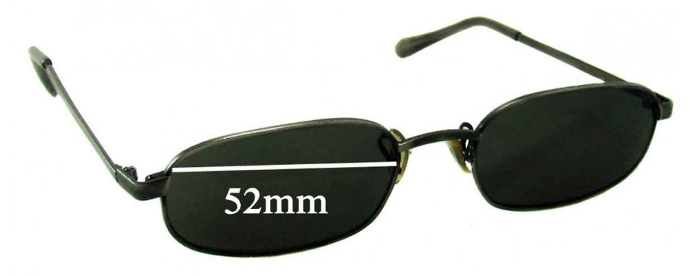 Sunglass Fix Sunglass Replacement Lenses for Ray Ban B&L Unknown Model - 52mm Wide