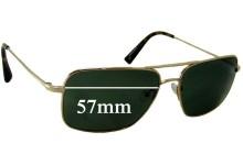 Sunglass Fix Sunglass Replacement Lenses for Salt Lester - 57mm Wide