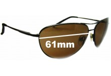 Sunglass Fix Sunglass Replacement Lenses for Serengeti Napoli - 61mm Wide