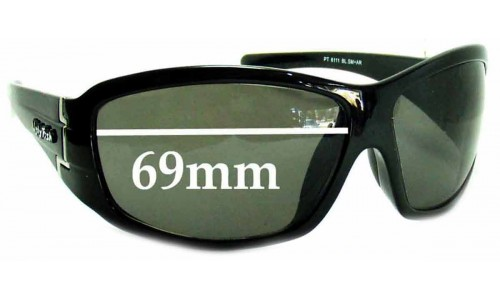 Sunglass Fix Sunglass Replacement Lenses for Ugly Fish PT6111 - 69mm Wide