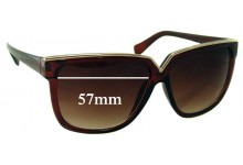 Sunglass Fix Sunglass Replacement Lenses for Unknown XS-cz5009 - 57mm Wide