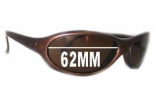 Sunglass Fix Sunglass Replacement Lenses for Vuarnet Pouilloux 033 - 62mm Wide