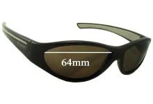 Sunglass Fix Sunglass Replacement Lenses for Vuarnet Pouilloux Unknown Model - 64mm Wide