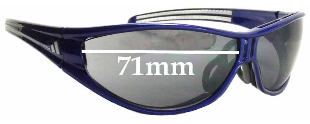 8bafe98861c2 Sunglass Fix Sunglass Replacement Lenses for Adidas A126 Evil Eye Pro-L  Sunglass Replacement Lenses- 71mm wide Please measure as there are several  models