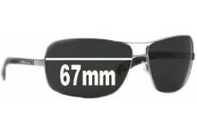 Sunglass Fix Sunglass Replacement Lenses for Arnette Lock Up AN3045 - 67mm Wide