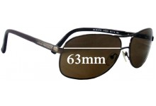 Sunglass Fix Sunglass Replacement Lenses for Armani Exchange AX 201/F/S - 63mm Wide