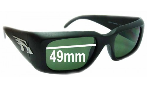Sunglass Fix Sunglass Replacement Lenses for Arnette Dirty Harry AN215 - 49mm Wide