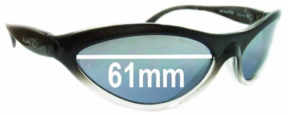 Sunglass Fix Replacement Lenses for Arnette Hawk AN203 - 61mm Wide
