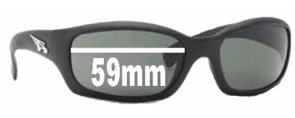 Sunglass Fix Replacement Lenses for Arnette Manifesto AN4068 - 59mm Wide