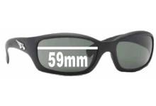 Sunglass Fix Sunglass Replacement Lenses for Arnette Manifesto AN4068 - 59mm Wide x 35mm Tall