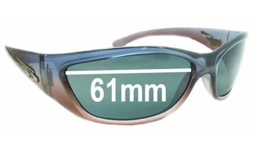 Sunglass Fix Sunglass Replacement Lenses for Arnette Vandal AN4069 - 61mm wide