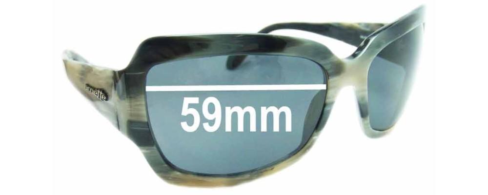 Sunglass Fix Replacement Lenses for Arnette Countess AN4086 - 59mm Wide