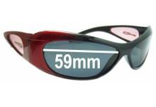 Sunglass Fix Sunglass Replacement Lenses for Arnette Elixir - 59mm Wide