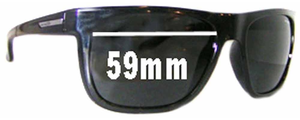 Sunglass Fix Sunglass Replacement Lenses for Arnette Fire Drill AN4143 - 59mm Wide