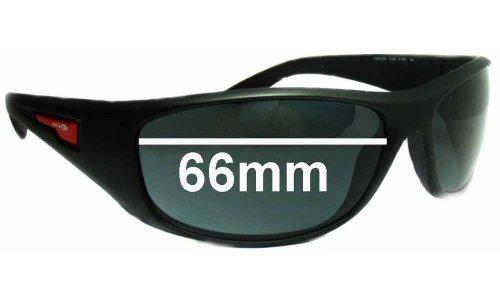 Sunglass Fix Sunglass Replacement Lenses for Arnette Freezer AN4155 - 66mm Wide