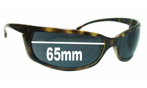 Sunglass Fix Sunglass Replacement Lenses for AN4007 Arnette Slides Slide - 65mm wide, 34mm high *Please measure as there is a height variation*