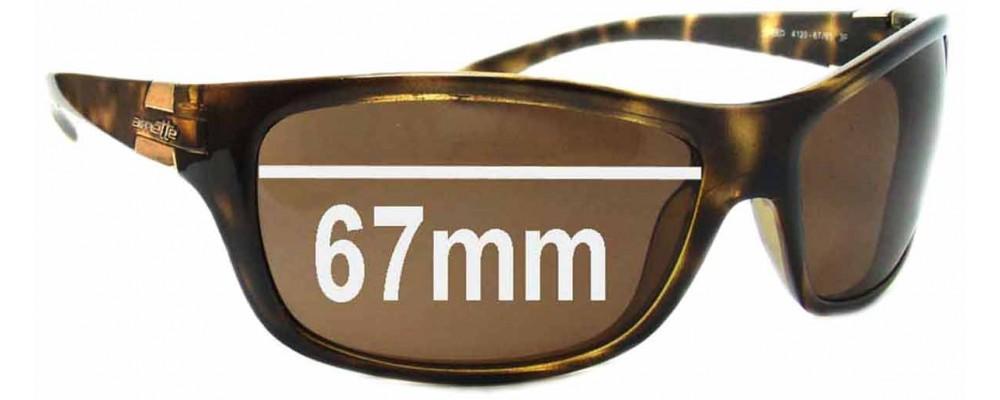 Sunglass Fix Sunglass Replacement Lenses for Arnette Speed AN4120 - 67mm Wide