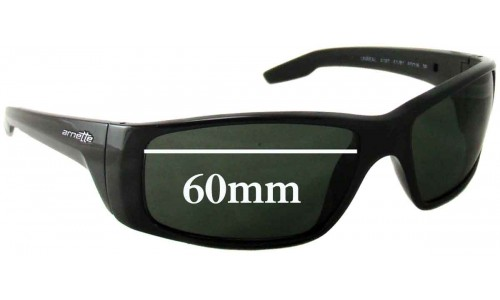 Sunglass Fix Sunglass Replacement Lenses for Arnette Unreal AN4187 - 60mm Wide