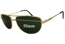 Sunglass Fix Sunglass Replacement Lenses for Arnette Aviator Style (Older) - 55mm Wide x 39mm Tall
