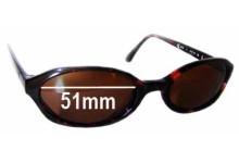 Sunglass Fix Sunglass Replacement Lenses for Calvin Klein CK4015 - 51mm Wide