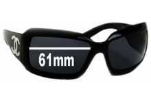 Sunglass Fix Sunglass Replacement Lenses for Chanel 5076-H - 61mm Wide