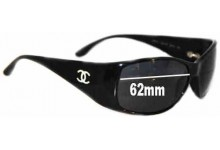 Sunglass Fix Sunglass Replacement Lenses for Chanel 5087-H - 62mm Wide