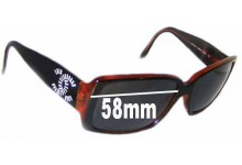 Sunglass Fix Sunglass Replacement Lenses for Chanel 5114-B - 58mm Wide