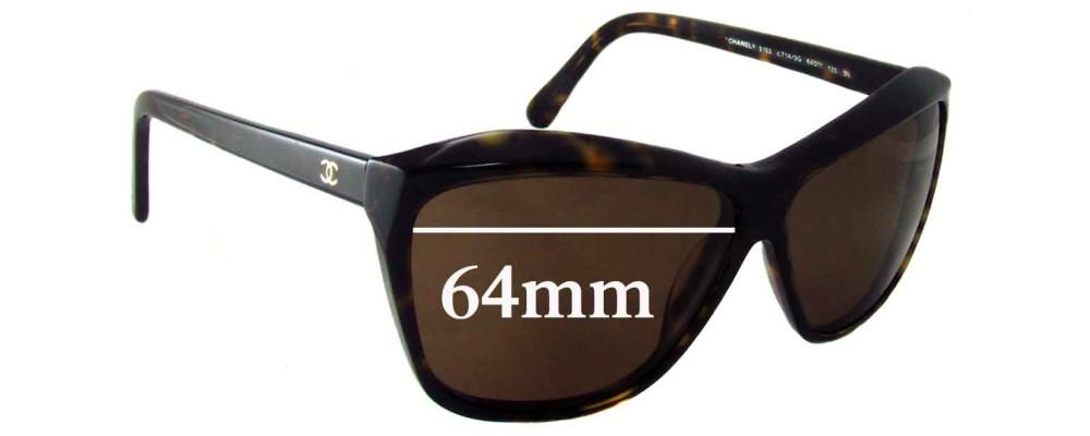 9e259cb6e6851 Sunglass Fix Sunglass Replacement Lenses for Chanel 5153 - 64mm wide