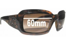 Sunglass Fix Sunglass Replacement Lenses for Chanel 6022-Q 60mm Wide