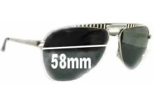 Sunglass Fix Sunglass Replacement Lenses for Dolce & Gabbana DG6014 - 58mm Wide
