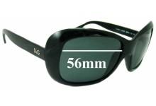 Sunglass Fix Sunglass Replacement Lenses for Dolce & Gabbana DG8074 - 56mm Wide