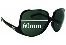 Sunglass Fix Sunglass Replacement Lenses for Dolce & Gabbana DG6033 - 60mm Wide
