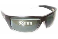 Sunglass Fix Sunglass Replacement Lenses for Electric Tech XL - 68mm Wide