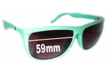 Sunglass Fix Sunglass Replacement Lenses for Electric Tonette - 59mm Wide