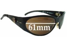 Sunglass Fix Sunglass Replacement Lenses for Grateful Dead Dark Star - 61mm Wide