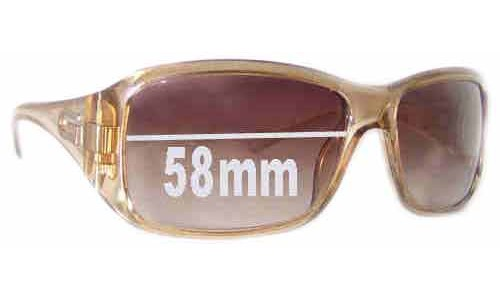 Sunglass Fix Sunglass Replacement Lenses for Gucci GG2550/S - 58mm Wide