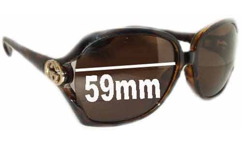 Sunglass Fix Sunglass Replacement Lenses for Gucci GG2986/S - 59mm Wide