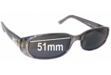 Sunglass Fix Sunglass Replacement Lenses for Gucci GG2452/S - 51mm Wide