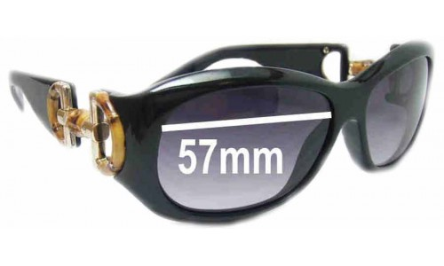 Sunglass Fix Sunglass Replacement Lenses for Gucci GG2970/S - 57mm wide