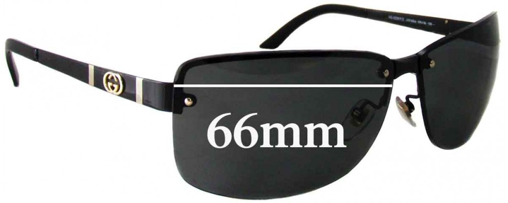 Sunglass Fix Sunglass Replacement Lenses for Gucci GG4235/F/S - 66mm Wide