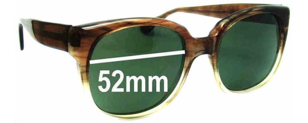 Sunglass Fix Sunglass Replacement Lenses for .J Cooper 145 JFM - 52mm Wide