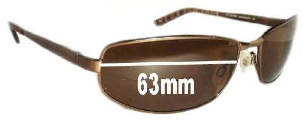 Sunglass Fix Sunglass Replacement Lenses for Joseph Abboud JA148SP - 63mm Wide