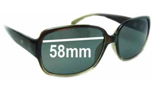 Sunglass Fix Sunglass Replacement Lenses for JAG 6086 - 58mm Wide